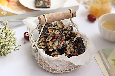 黑芝麻红枣核桃糕