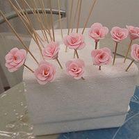 换个方式做翻糖花---翻糖蛋糕(七)---桃花盛开的做法图解33