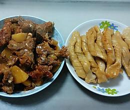 排骨土豆粘卷子~的做法
