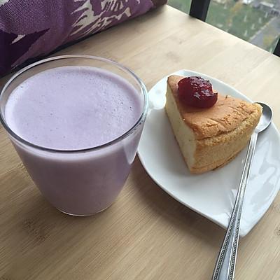 下午茶—紫薯牛奶热饮