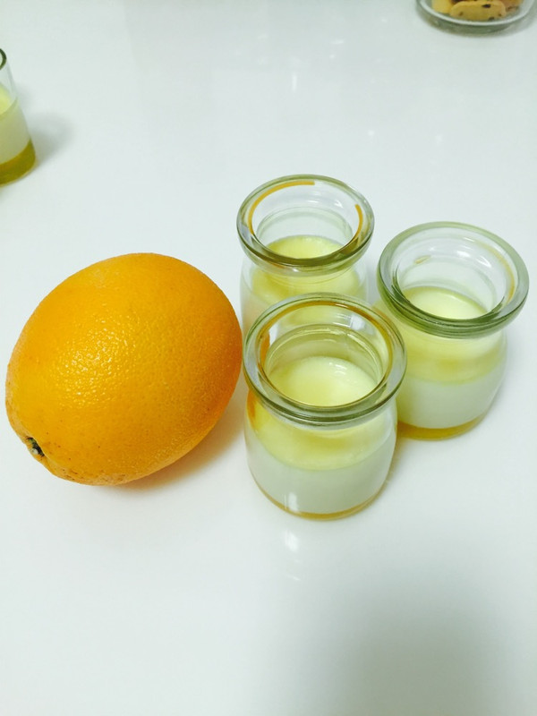 橙子果冻布丁的做法