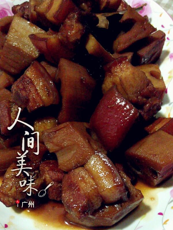 莲藕焖五花肉----小丽家常菜的做法
