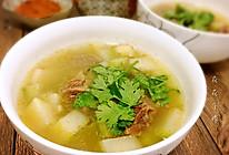 牛腩萝卜汤的做法