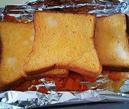 11升迷你烤箱版本的鸭蛋三明治的做法