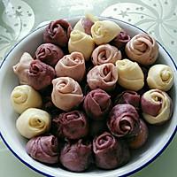 紫薯玫瑰小馒头的做法图解13