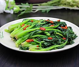 节后减肥排毒,枸杞炒菠菜的做法
