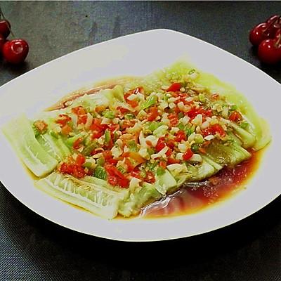 夏季快手菜-微波蒜蓉丝瓜