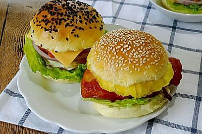 汉堡—新奥尔良烤鸡腿堡(中种法,改自爱和自由)
