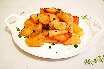 快速简单的椒盐土豆块