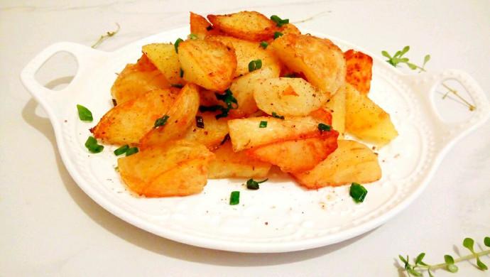 【新品】快速简单的椒盐土豆块