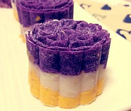 紫薯山药南瓜三色糕的做法