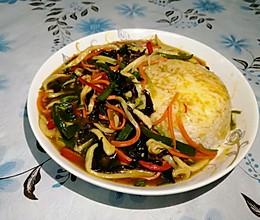 鱼香杏鲍菇盖饭的做法