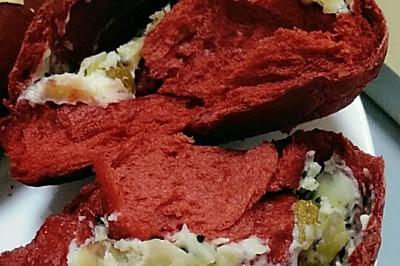 红丝绒奶酪面包