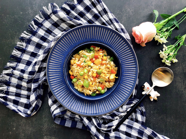瑶柱彩色蛋炒饭的做法