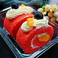 红丝绒大米蛋糕卷+#松下多面美味#的做法图解18