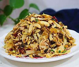 咸菜肉丝儿炒笋的做法