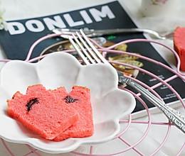 红丝绒草莓夹心磅蛋糕的做法