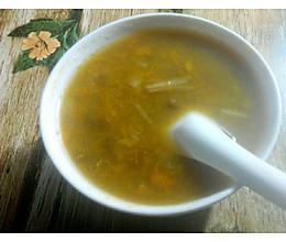 秋季南瓜绿豆鲜百合甜汤的做法