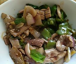 青椒洋葱炒猪腰的做法