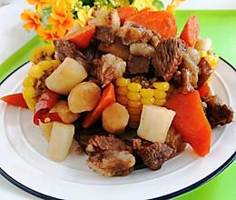 #入秋滋补正当时#不加一滴油炖羊肉玉米山药胡萝卜的做法