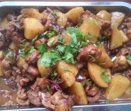 香菇土豆炖鸡腿的做法