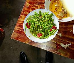 青椒毛豆的做法