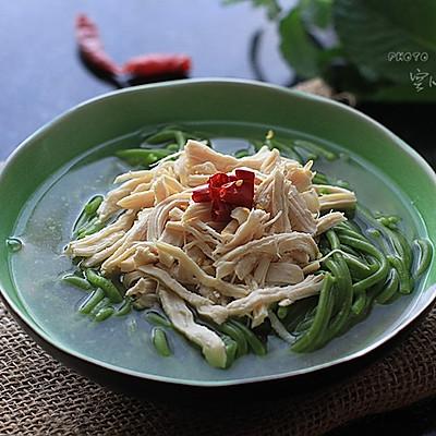 【菠菜鸡丝面】——清淡面条也要做得有滋有味