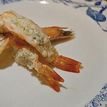 特开胃的蒜蓉烤虾