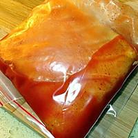 奥尔良风情烤鲟鱼片的做法图解3