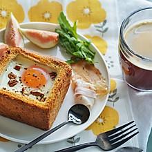 健康早餐|厚吐司-碧根果芝士烘蛋#硬核菜谱制作人#
