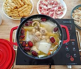 #冬天就要吃火锅#鸡汤火锅的做法