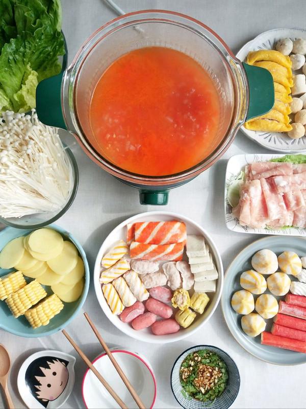 快手番茄火锅的做法