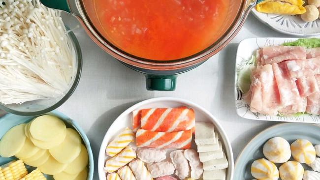 快手番茄火锅#福气年夜菜#的做法