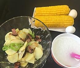 土豆青椒炒腊肉的做法