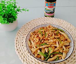 #李锦记旧庄蚝油鲜蚝鲜煮#蚝油海鲜菇炒鸡丝的做法