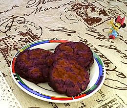 #晒出你的团圆大餐#紫地瓜饼的做法