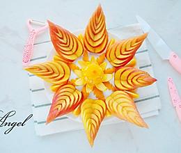 苹果橙子水果拼盘的做法
