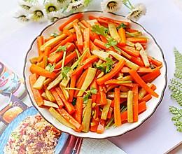 #秋天怎么吃#杏鲍菇炒胡萝卜的做法