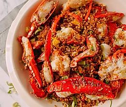 海蟹火腿丁焗饭的做法