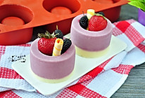 桑葚酸奶双色冻#膳魔师夏日魔法甜品#的做法