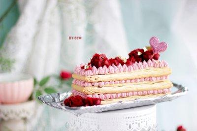 玫瑰千层蛋糕,法式千层,低油版