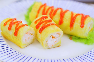 鲜虾吐司卷  宝宝辅食食谱