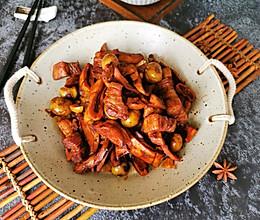 #憋在家里吃什么#笋干板栗烧肉的做法