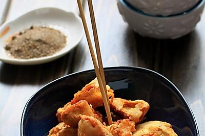 长肉肉的零食——椒盐白灵菇