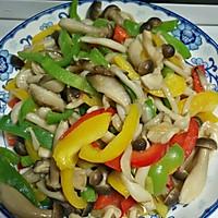 彩椒炒菌菇