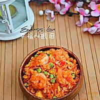 番茄虾仁炒饭的做法图解10