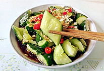 虾皮拌青瓜的做法