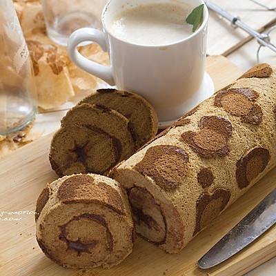 狂野的豹纹蛋糕卷