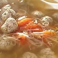 西红柿豆芽肉丸汤的做法图解9