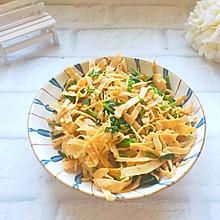 #今天吃什么#比肉还好吃的简单快手家常菜:素炒豆腐皮